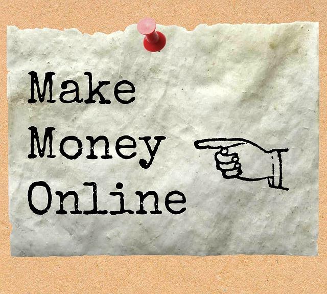 オンラインで稼ぐ文字の画像